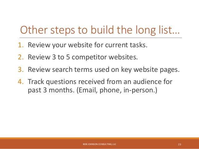 "Pick ""Top Five"" tasks… BOB JOHNSON CONSULTING, LLC 24"