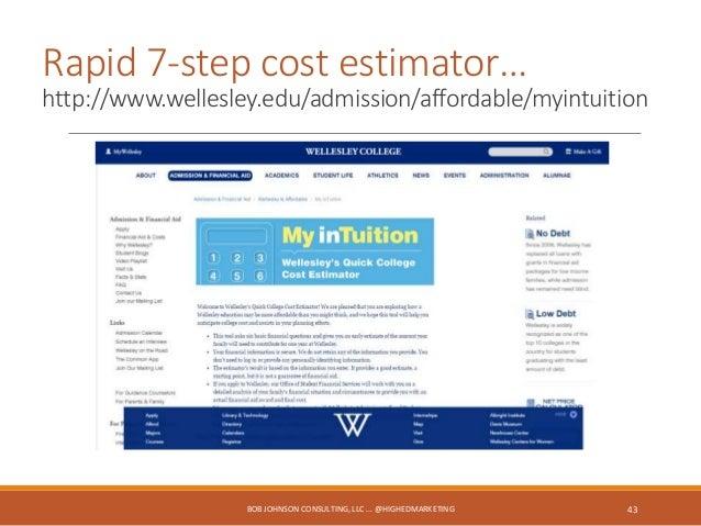 Fast scholarship qualification… http://scholarships.eku.edu/estimator BOB JOHNSON CONSULTING, LLC 44
