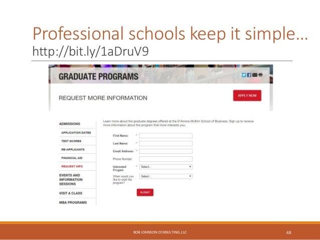 Advancement & alumni… BOB JOHNSON CONSULTING, LLC 49