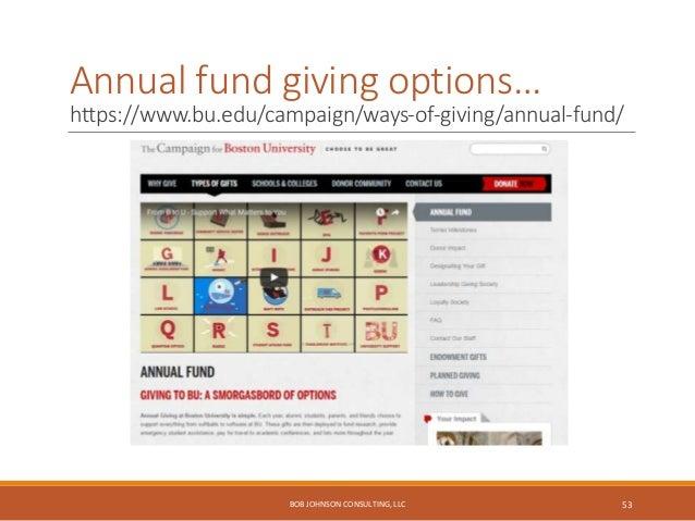 Top tasks for alumni accounts… http://www.alumni.hbs.edu/lefa/ BOB JOHNSON CONSULTING, LLC 54