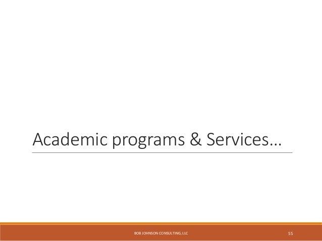 Top tasks for study abroad… http://studyabroad.arcadia.edu/ BOB JOHNSON CONSULTING, LLC 56