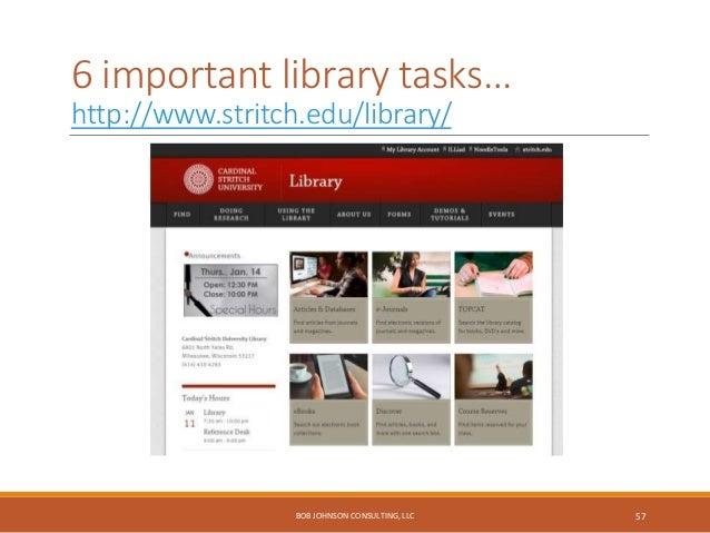 International student top tasks… http://www.uio.no/english/student-life/ BOB JOHNSON CONSULTING, LLC 58