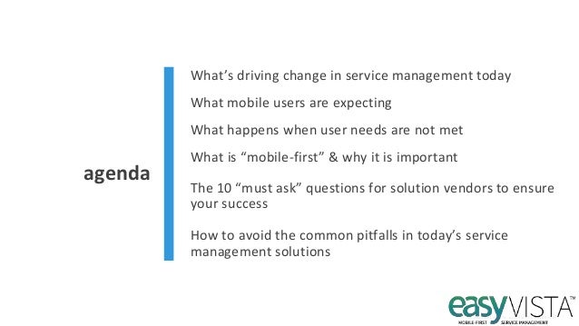 Mobile-first Service Management Platform