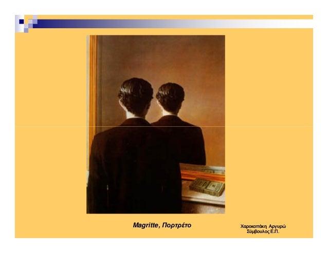 Magritte, Πορτρέτο ΧαροκοπάκηΧαροκοπάκη ΑργυρώΑργυρώ Σύµβουλος Ε.Π.Σύµβουλος Ε.Π.
