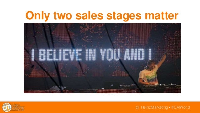 @TwitterHandle • #CMWorld@ HeinzMarketing • #CMWorld Only two sales stages matter
