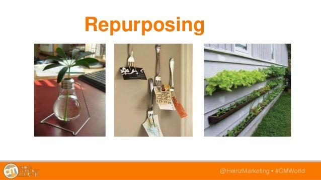 @HeinzMarketing • #CMWorld Repurposing