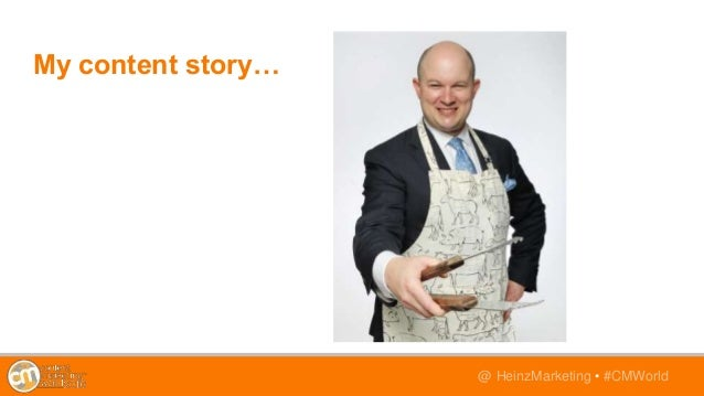 @TwitterHandle • #CMWorld@ HeinzMarketing • #CMWorld My content story…
