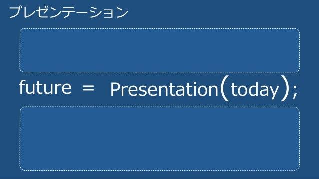 プレゼンテーション future = Presentation(today);