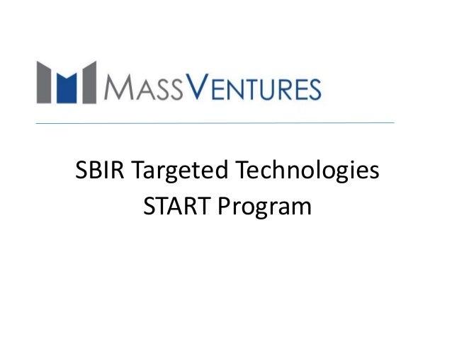 SBIR Targeted Technologies START Program