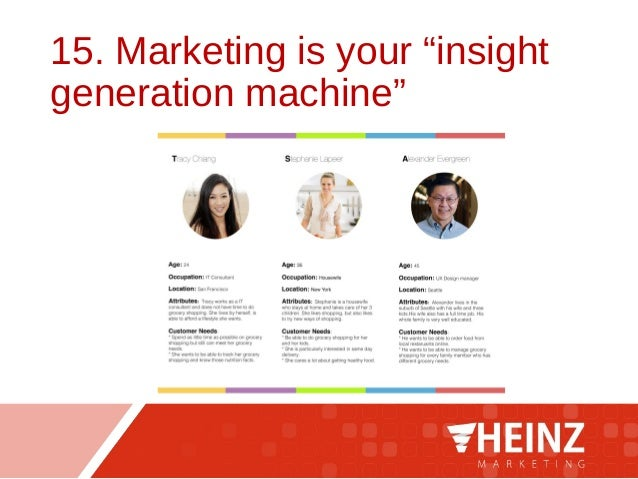 """15. Marketing is your """"insight generation machine"""""""