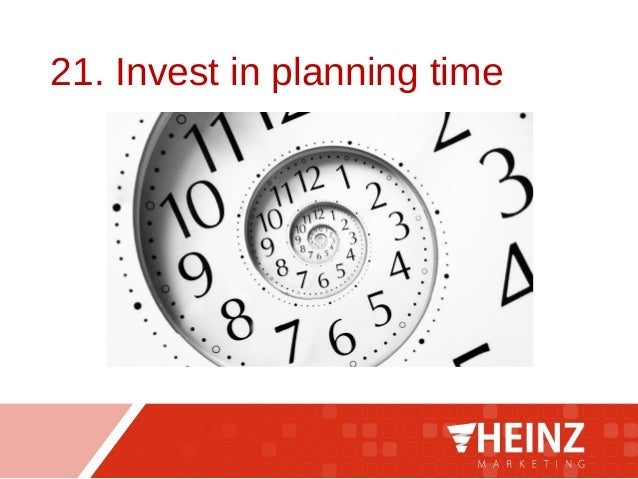 21. Invest in planning time