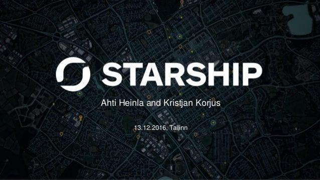 Ahti Heinla and Kristjan Korjus 13.12.2016, Tallinn