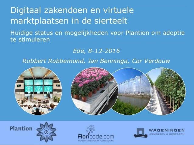 Digitaal zakendoen en virtuele marktplaatsen in de sierteelt Huidige status en mogelijkheden voor Plantion om adoptie te s...