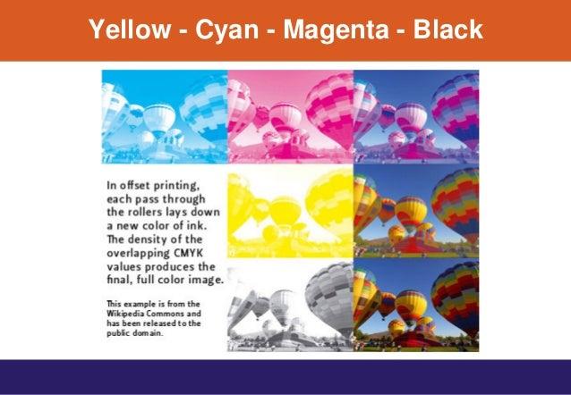 Yellow - Cyan - Magenta - Black