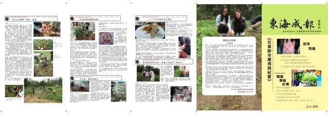 1042_報導專題: 花草節令應用與紀實_東海成報夏季刊