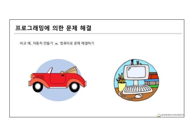 프로그래밍에 의한 문제 해결 비교 예.. 자동차 만들기 vs. 컴퓨터로 문제 해결하기