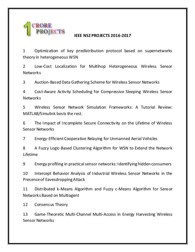 2016 ns2 project titles   2016 - 2017 projects titles   2016 ns2 proj…