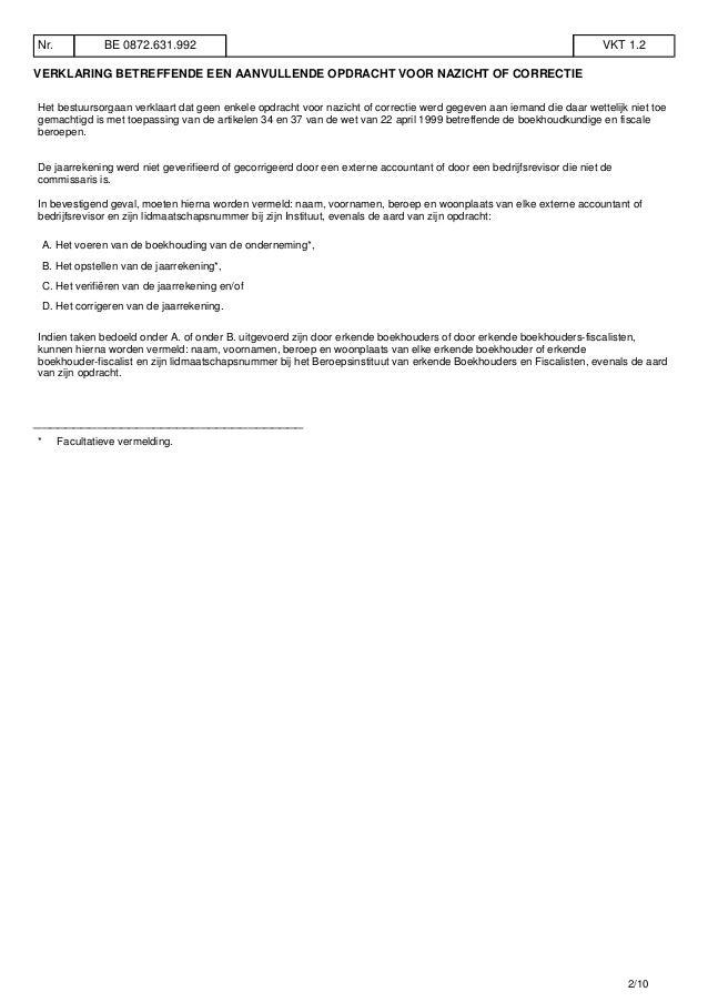Bvba Roel Vanderstukken in goede doen Slide 2