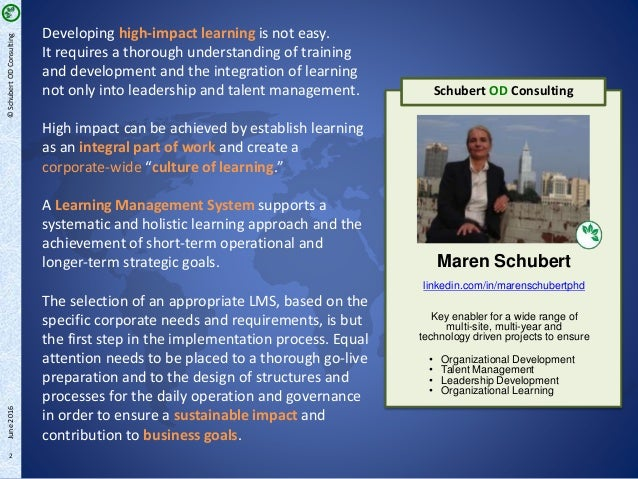 LMS – Integral Part of Corporate Learning | LMS Implementation process at a global automotive supplier (Part 2/3) Slide 2