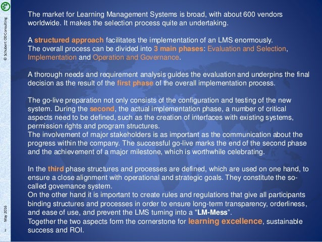 Striving for Learning Excellence - LMS Implementation at a global Automotive Supplier Slide 2