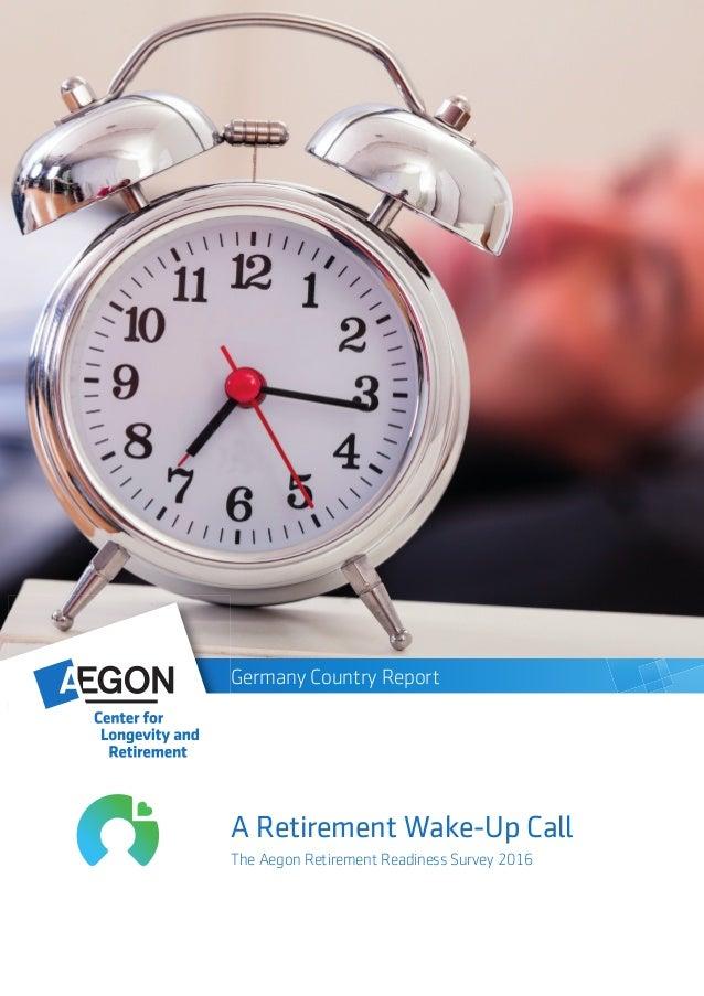 Germany - 2016 Aegon Retirement Readiness Report