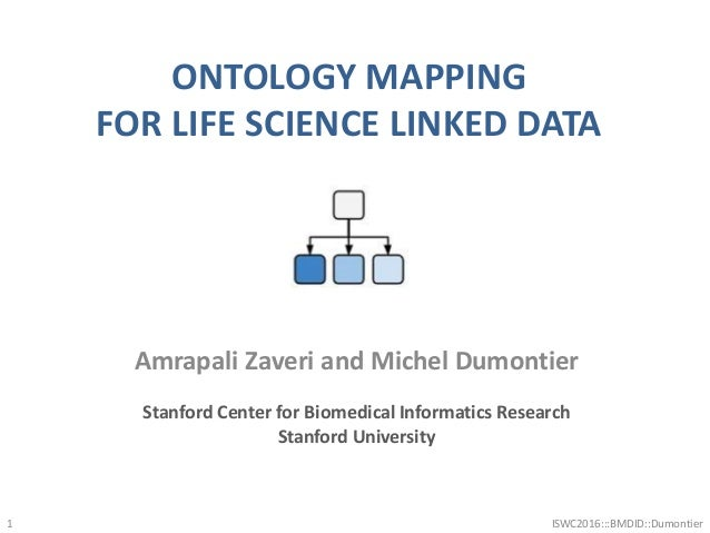 ONTOLOGY MAPPING FOR LIFE SCIENCE LINKED DATA ISWC2016:::BMDID::Dumontier1 Amrapali Zaveri and Michel Dumontier Stanford C...