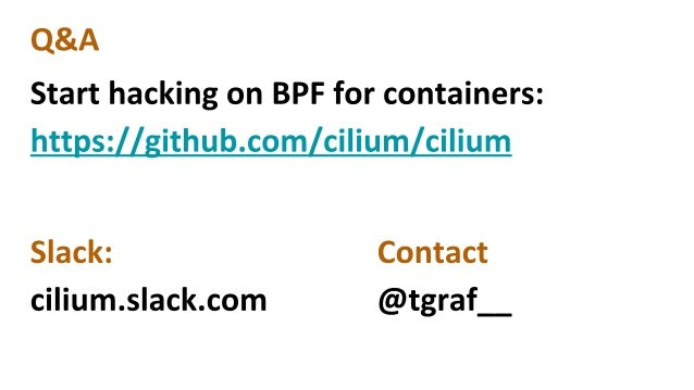 Cilium - Container Networking with BPF & XDP