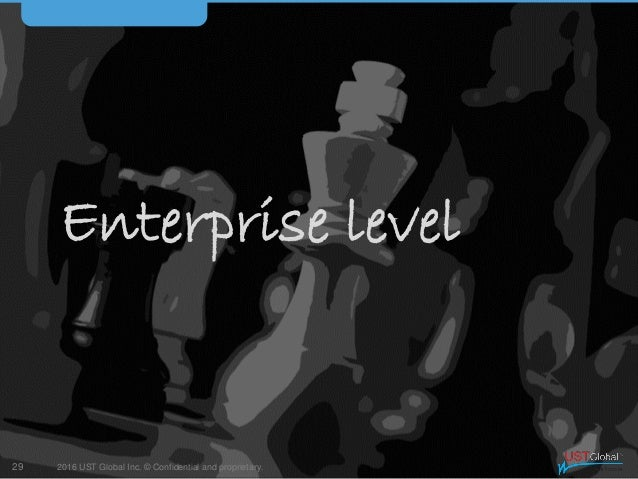 2016 UST Global Inc. © Confidential and proprietary. Enterprise level 29