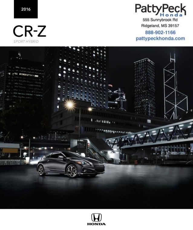 2016 honda cr z brochure jackson area honda dealer for Honda dealership jackson ms