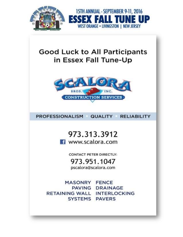 2016 Essex Fall Tune Up Tournament - Sponsorship Journal