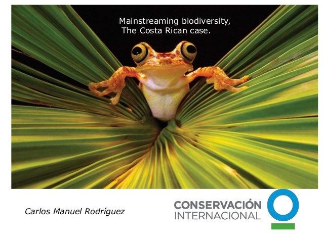 Carlos Manuel Rodríguez Mainstreaming biodiversity, The Costa Rican case.