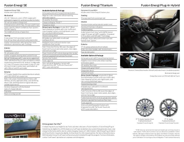 2016 Ford Fusion Hybrid And Energi Brochure