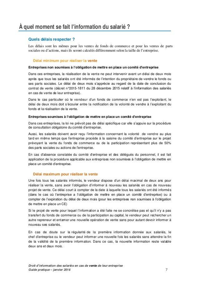 Guide Actualise Et Pratique Droit D Information Prealable Des Salar