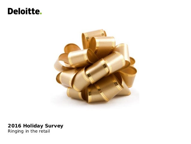 2016 Holiday Survey Ringing in the retail