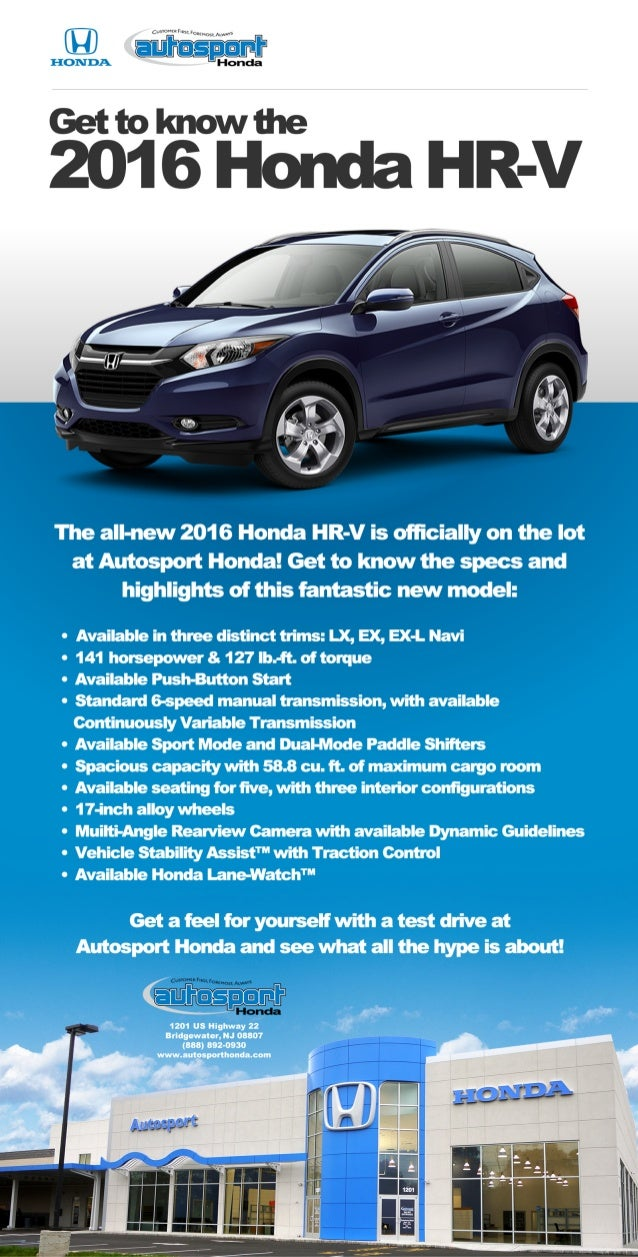 The All New 2016 Honda PER V Is Oñieially On The Lot At Autesport