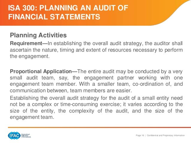 isa 300 planning an audit of financial statements pdf