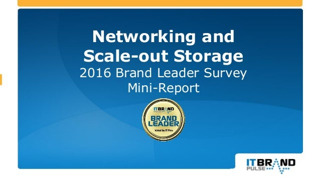 Networking and Scale-out Storage 2016 Brand Leader Survey Mini-Report