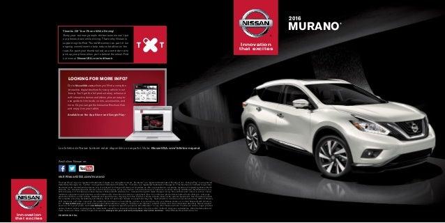 2016 Nissan Murano Brochure Nissan Dealer In Yonkers Ny