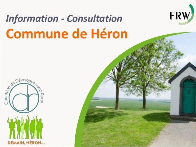 Information - Consultation Commune de Héron