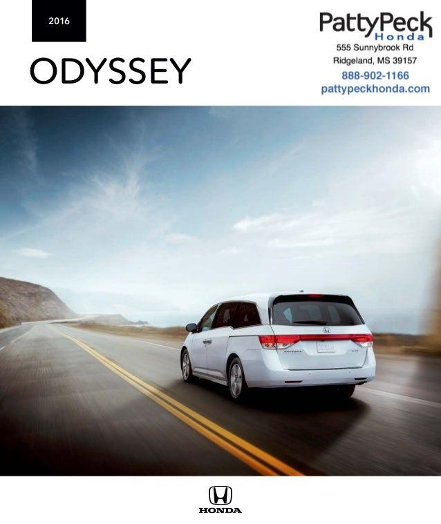 2016 honda odyssey brochure jackson area honda dealer for Honda dealership jackson ms