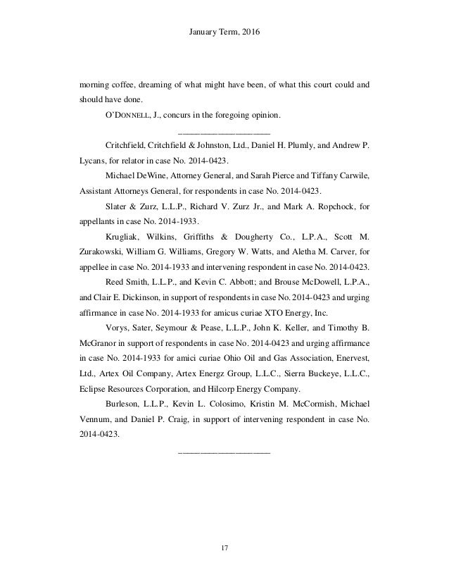 Ohio Supreme Court Ruling in Hupp vs. Beck Energy