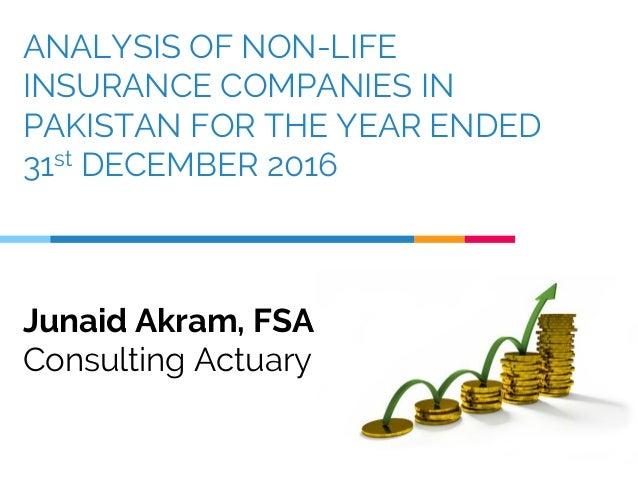 Non-Life Insurance Companies Analysis, Pakistan - December ...
