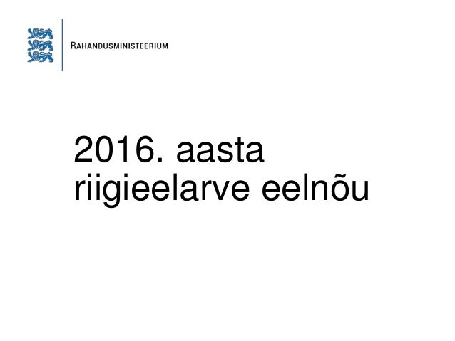 2016. aasta riigieelarve eelnõu