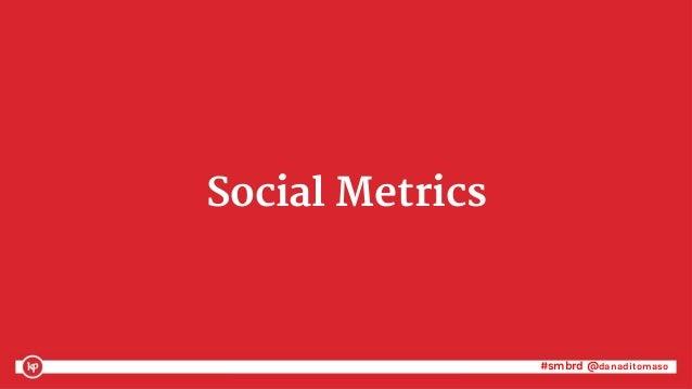 #smbrd @danaditomaso#smbrd @danaditomaso Social Metrics