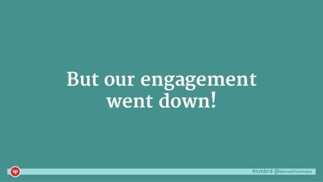 #smbrd @danaditomaso#smbrd @danaditomaso Instead, break down that engagement.