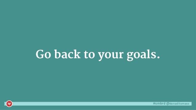 #smbrd @danaditomaso Go back to your goals.