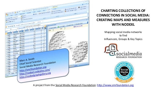 A project from the Social Media Research Foundation: http://www.smrfoundation.org CHARTING COLLECTIONS OF CONNECTIONS IN S...