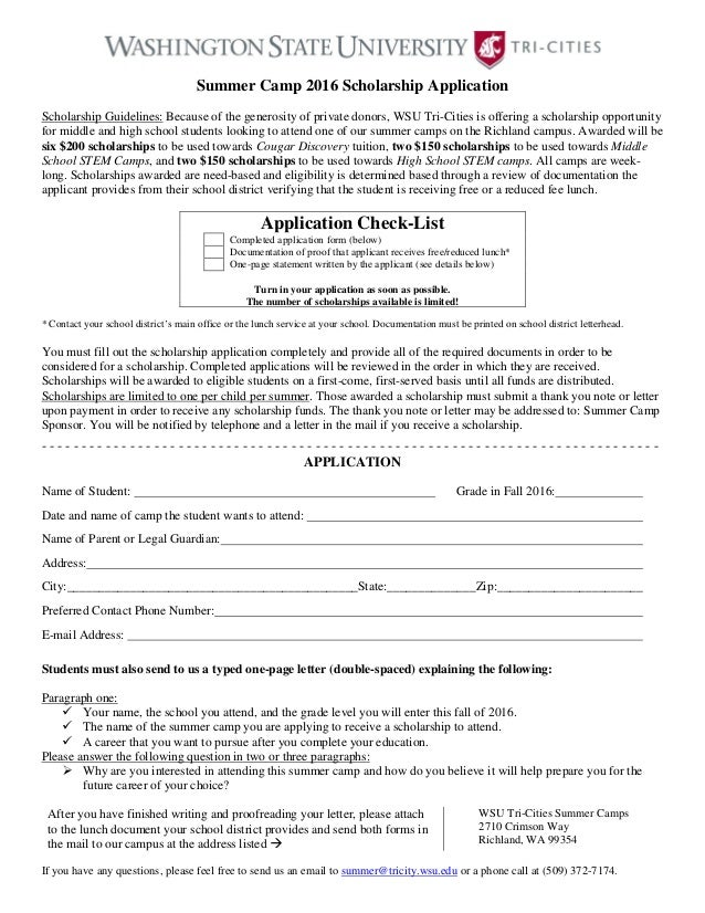 2016 summer-camp-scholarship-application-form