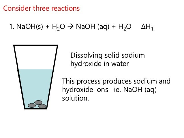 Enthalpy change of reaction lab report use sodium hydroxide
