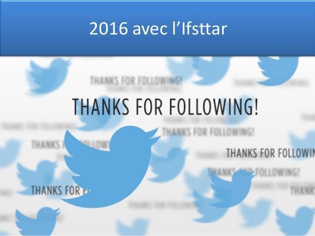 2016 avec l'Ifsttar